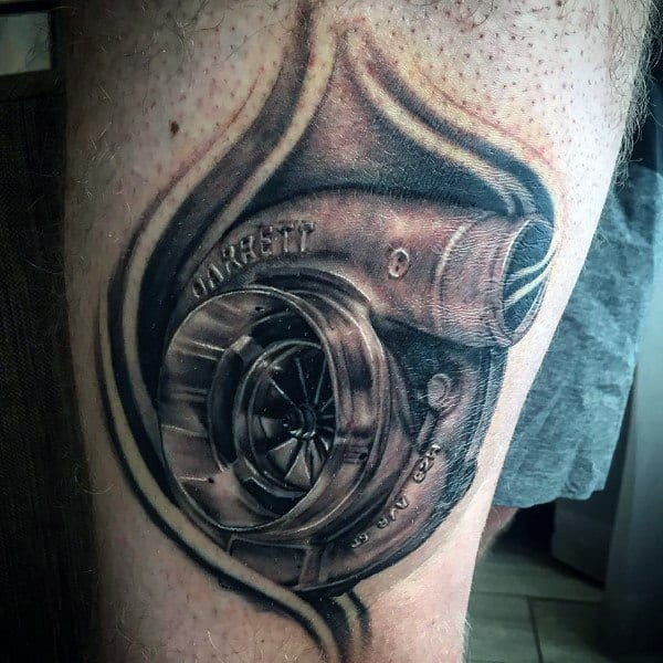 Sick Guys Turbo Themed Tattoos