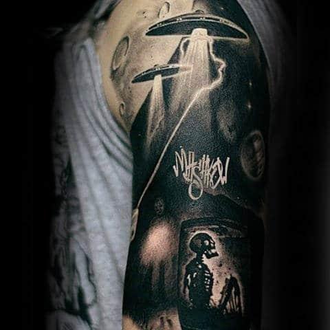 Sick Skeleton Tattoo Male Arms