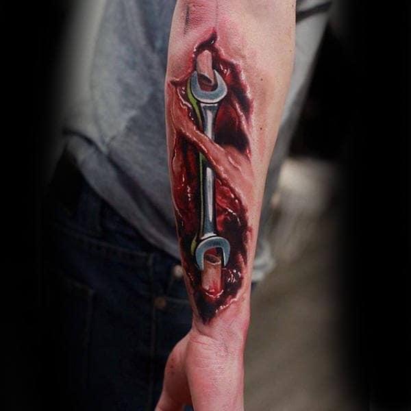Sick Tattoo Of Tool On Skin Tattoo Male