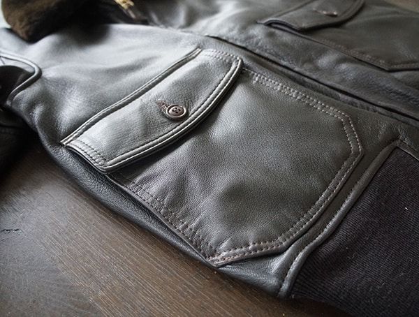 Side Entry Pockets And Double Front Flap Pockets Mens Cockpit Usa G 1 Flight Jacket
