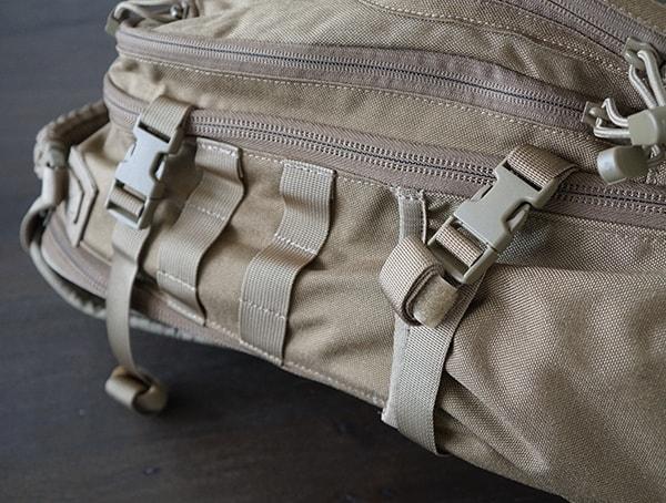Side Exterior Compression Straps Elite Survival Systems Pulse 24 Hour Backpack
