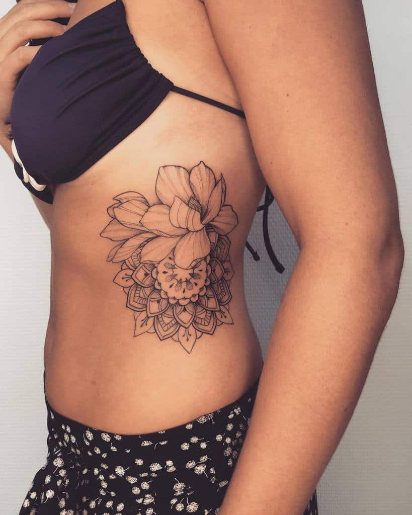 side magnolia tattoos dadtat2