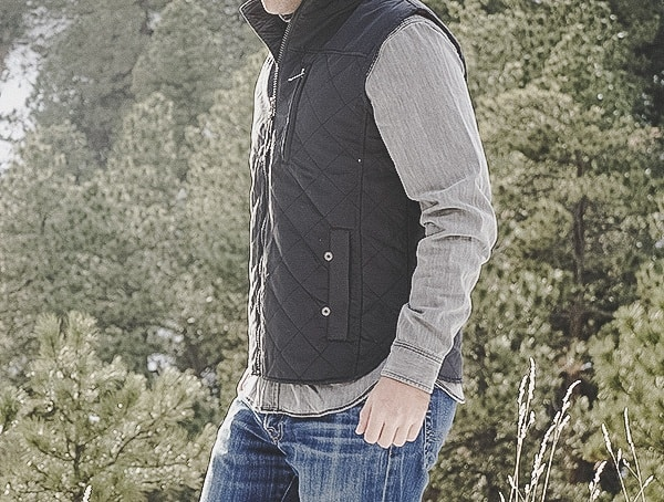 Side Mens Dakota Grizzly Vic Onyx Vest Review