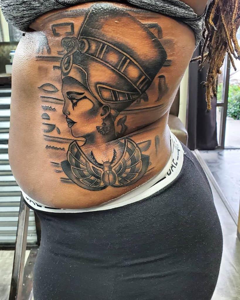 Side Nefertiti Tattoos Downztattoos34