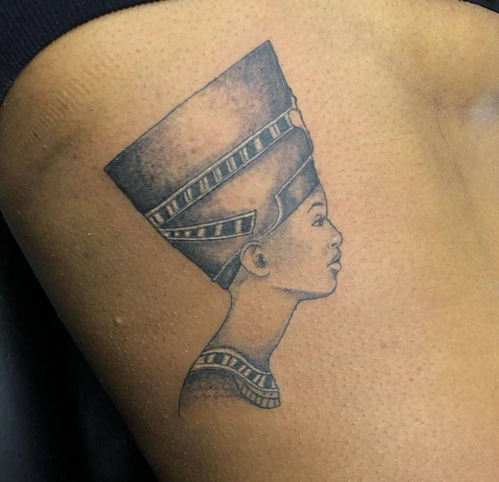 Side Nefertiti Tattoos Edwa305