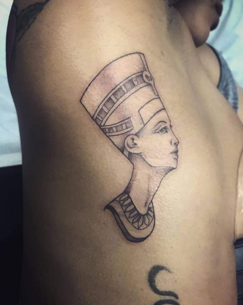 Side Nefertiti Tattoos Garza Sani