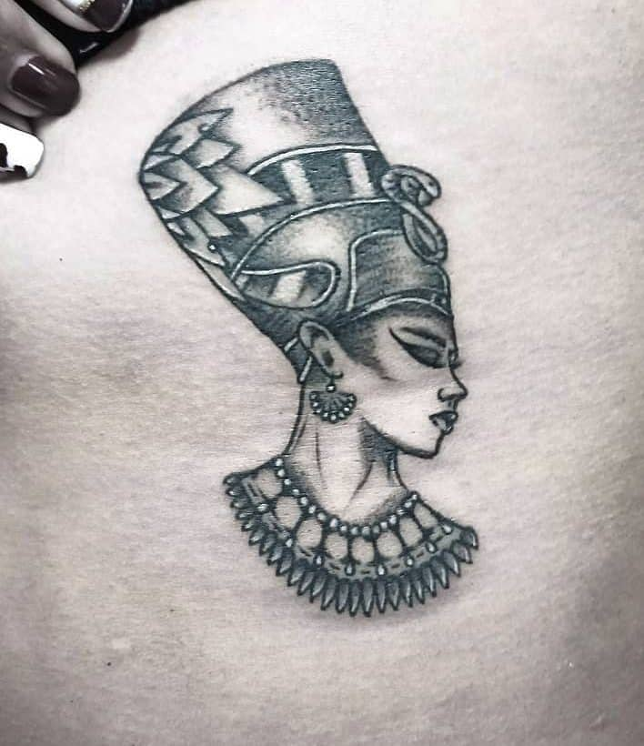 Side Nefertiti Tattoos Yabytattoo