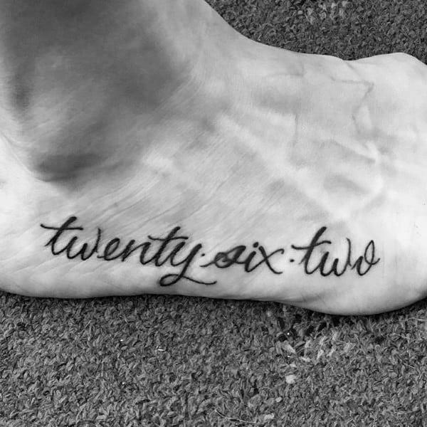 Side Of Foot Script Font 26 2 Tattoo Designs