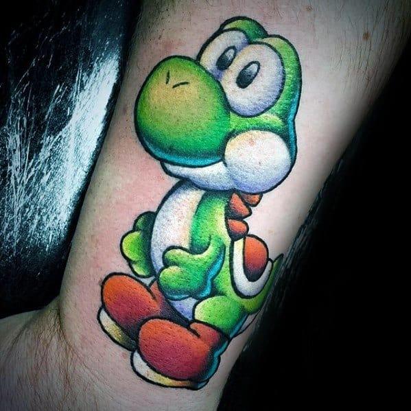 Side Of Forearm Mens Yoshi Tattoo Ideas