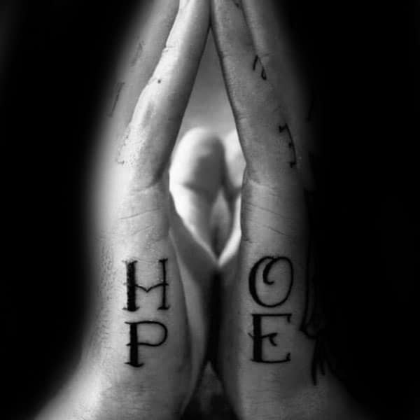 Side Of Hands Male Hope Tattoo Ideas