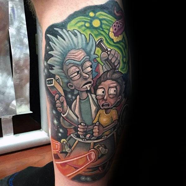 60 Rick And Morty Tattoo Designs For Men