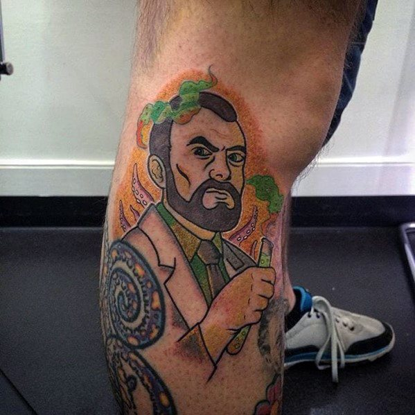 Side Of Leg Archer Tattoo Inspiration For Men