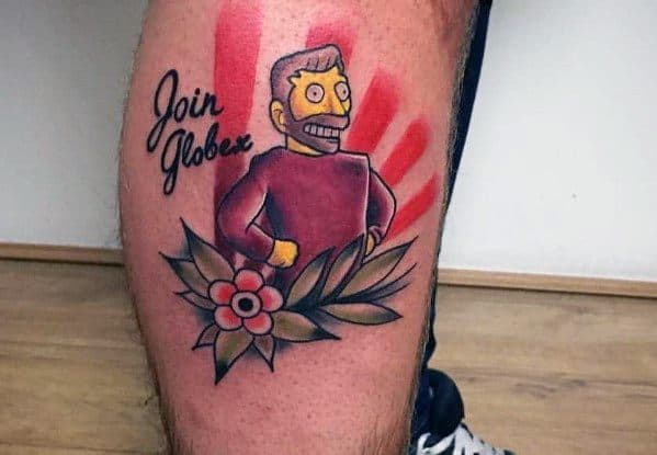 Side Of Leg Tattoo Ideas Simpsons