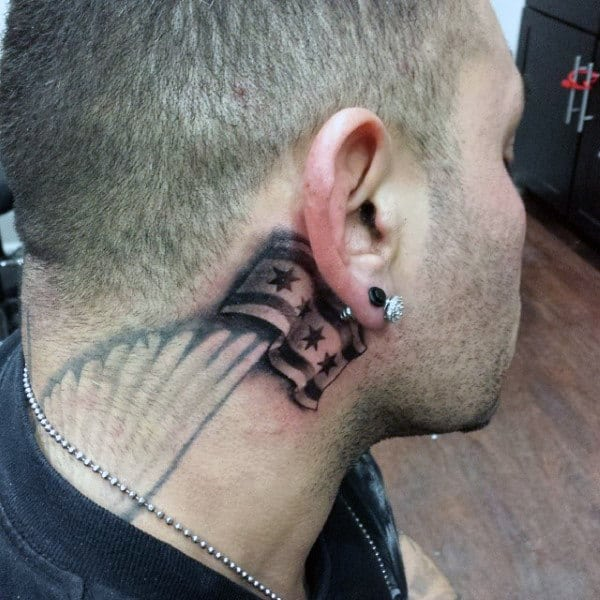 Side Of Neck Guys Chicago Tattoos