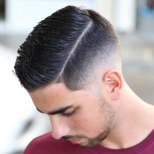 Side Part Bald Fade Haircut