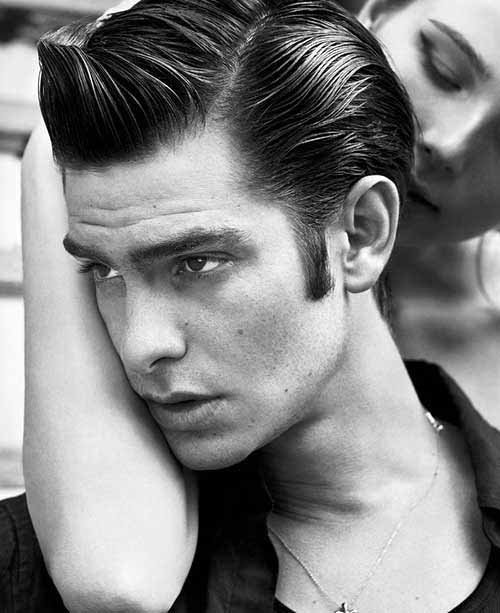 Side Part Mens Thick Greaser Hair