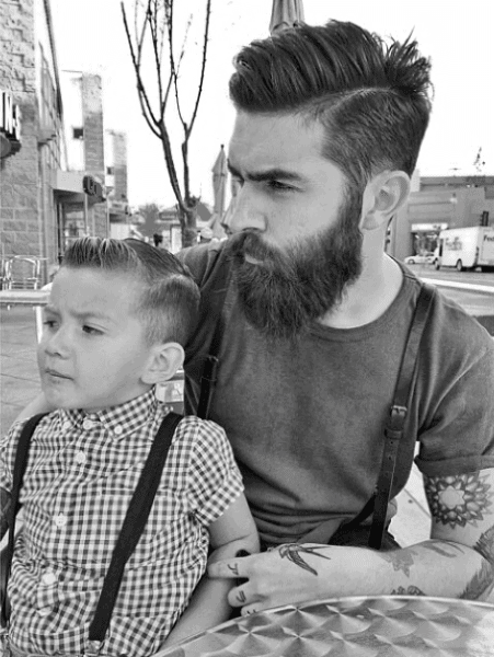 Side Part Modern Hairstyles For Males With Beards