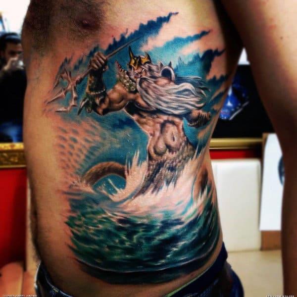 Poseidon Greek God Tattoo