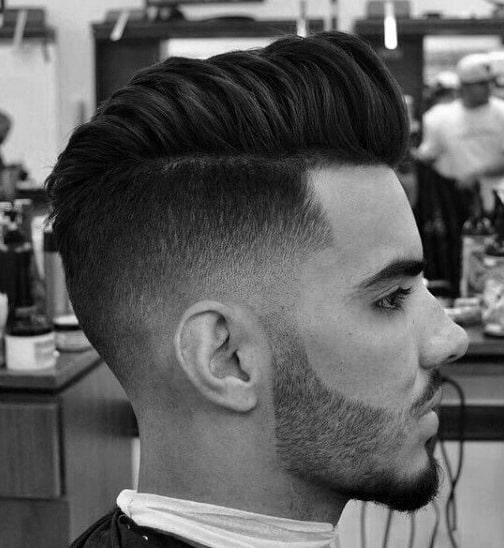 Side Shaved Hairstyle For Men
