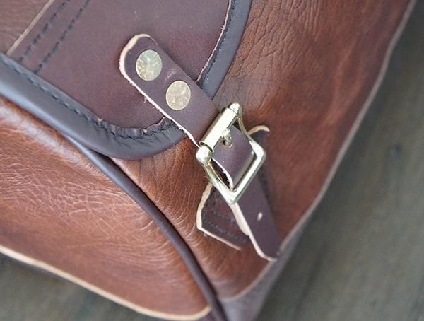 Side Straps Duluth Pack Bison Leather Sportsman Duffel For Men