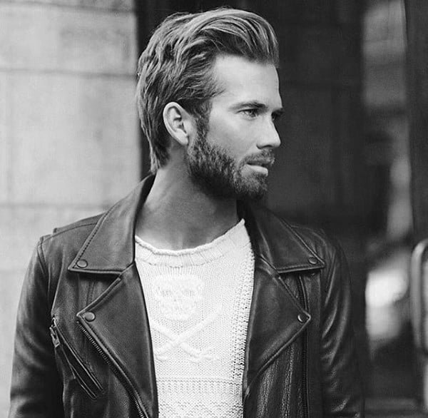 Side Swept Medium Hair Hairstyles For Men
