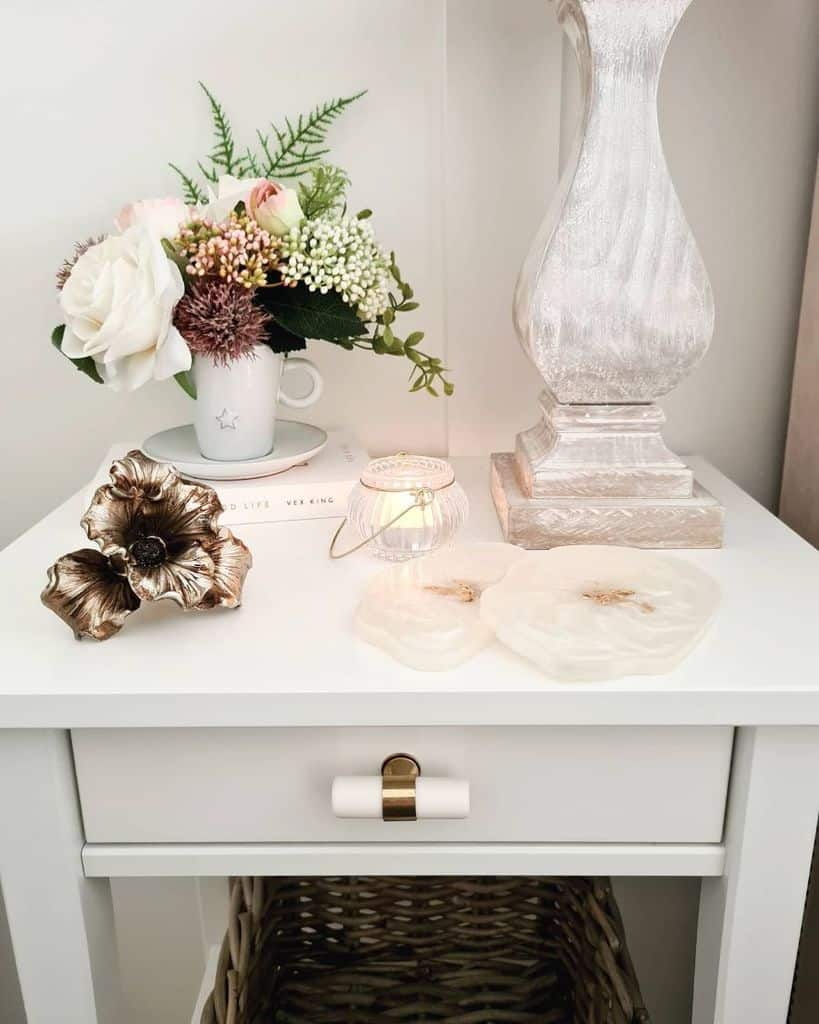 side table bedroom decor ideas thelittlelogcabinandmyhome