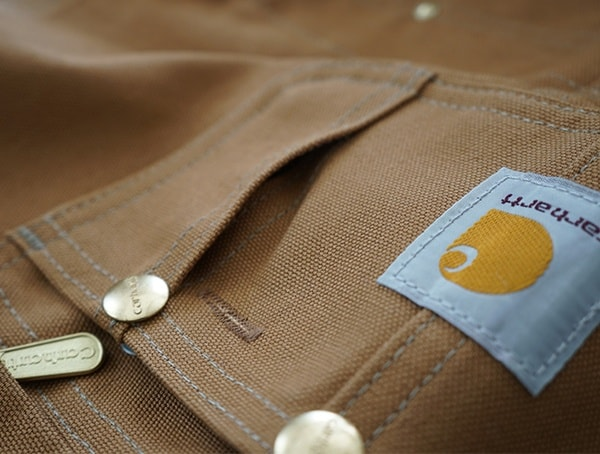 Side Upper Chest Pocket Carhartt Quilt Lined Zip To Thigh Bib Overalls