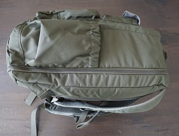 Side View 24 Liter United By Blue Arid Backpack In Olive