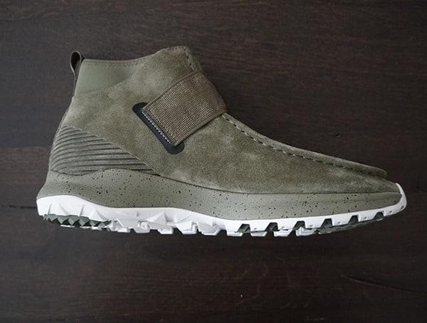 Side View Burnt Olive Teva Peralta Chukka Boots For Men