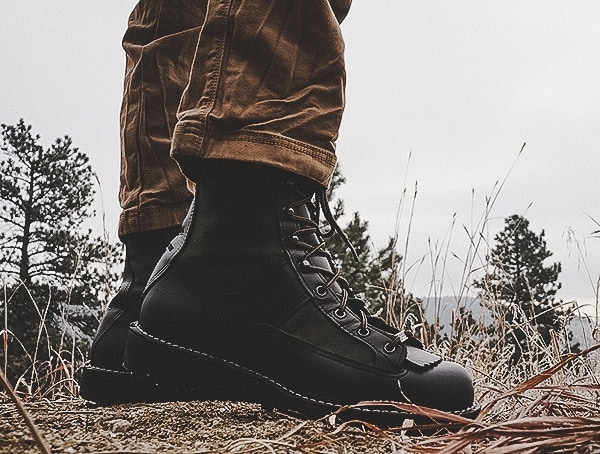 Side View Mens Filson X Danner Grouse Boots Outdoor Review