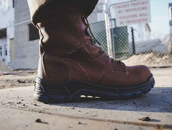 Side View Review Carhartt Made In The Usa 8 Inch Composite Toe Work Boots For Men