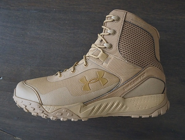 Side View Under Armour Valsetz Rts 1 5 Mens Coyote Brown Tactical Boots