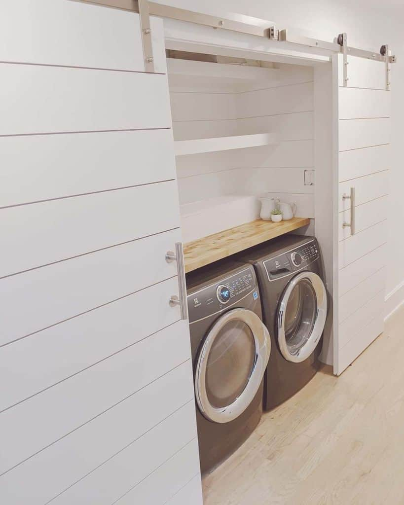 sidebyside laundry closet ideas ellegancyhome