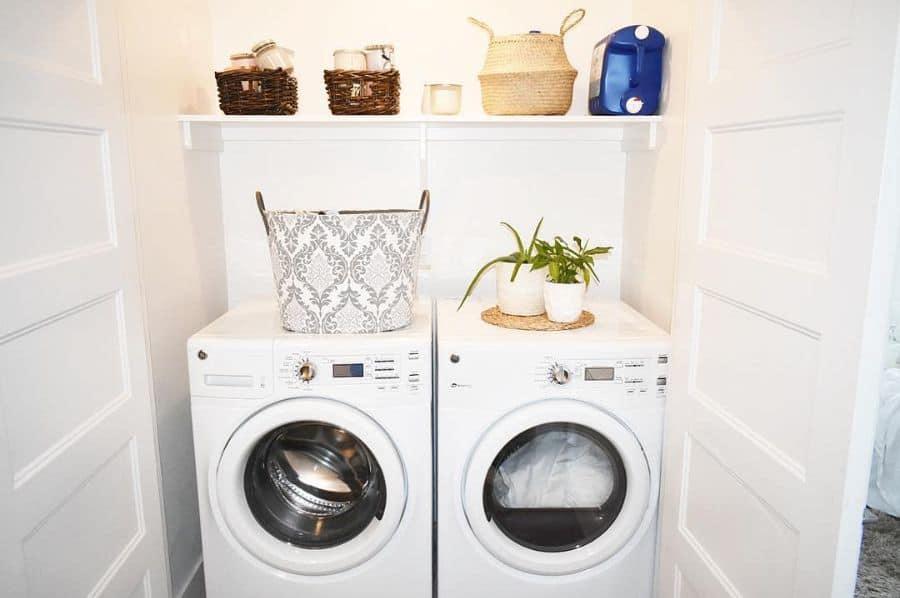 sidebyside laundry closet ideas stephmazerolle