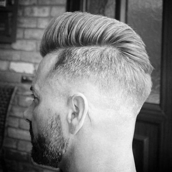 Sides Shaved Hairstyle For Men