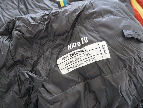 Sierra Designs Nitro 800 20 Degree Sleeping Bag Regular