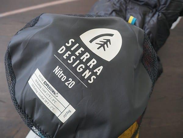 Sierra Designs Nitro 800 20 Degree Sleeping Bag Top Of Mesh Sack