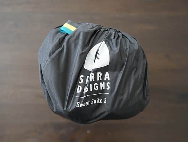Sierra Designs Sweet Suite 3 Tent Burrito Bag Top View
