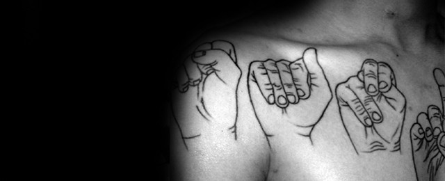 Sign Language Tattoo Designs For Men