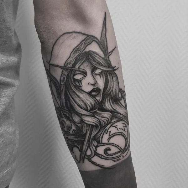 Silvana World Of Warcraft Tattoo For Males