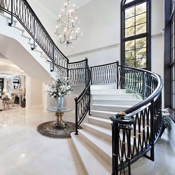 Silver Chandelier Foyer Lighting