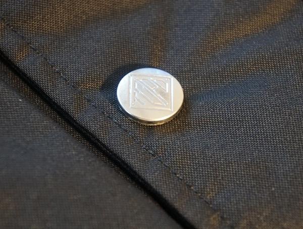 Silver Logo Snap Button Detail Topo Designs Mountain Jacket For Men