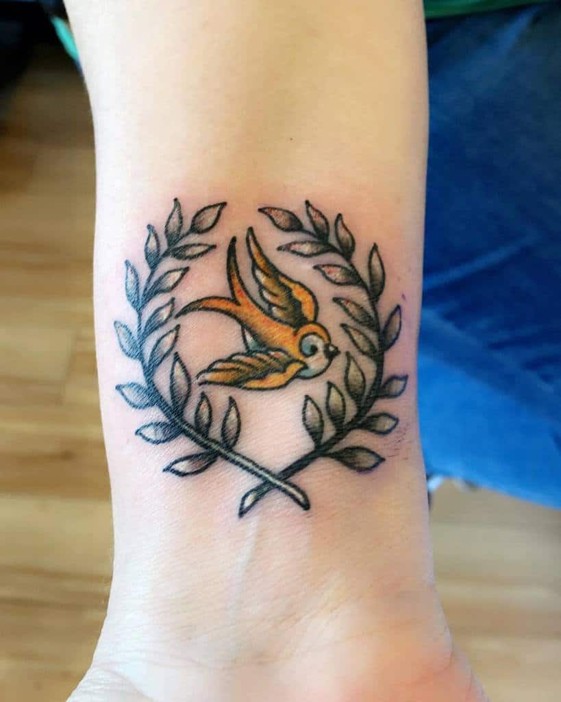 silver-wreath-yellow-bird-mother-daughter-tattoo-blackheart.713