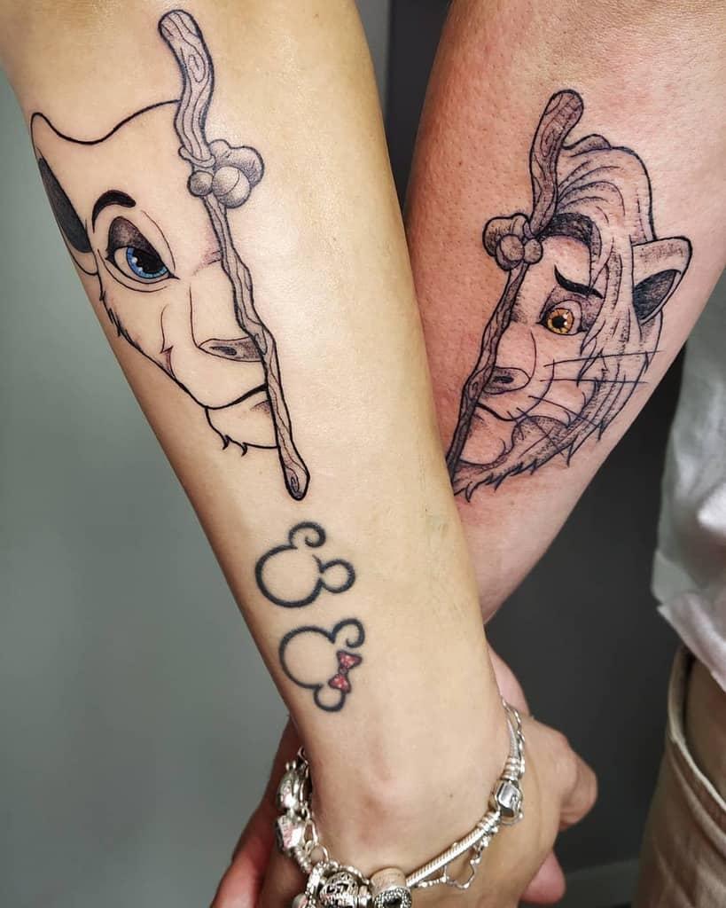 Simba And Nala Tattoo Gryfith Tattoo