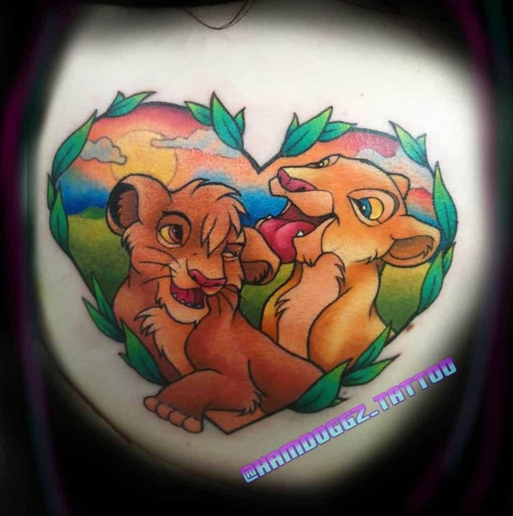 Simba And Nala Tattoo Hamdoggz Tattoo