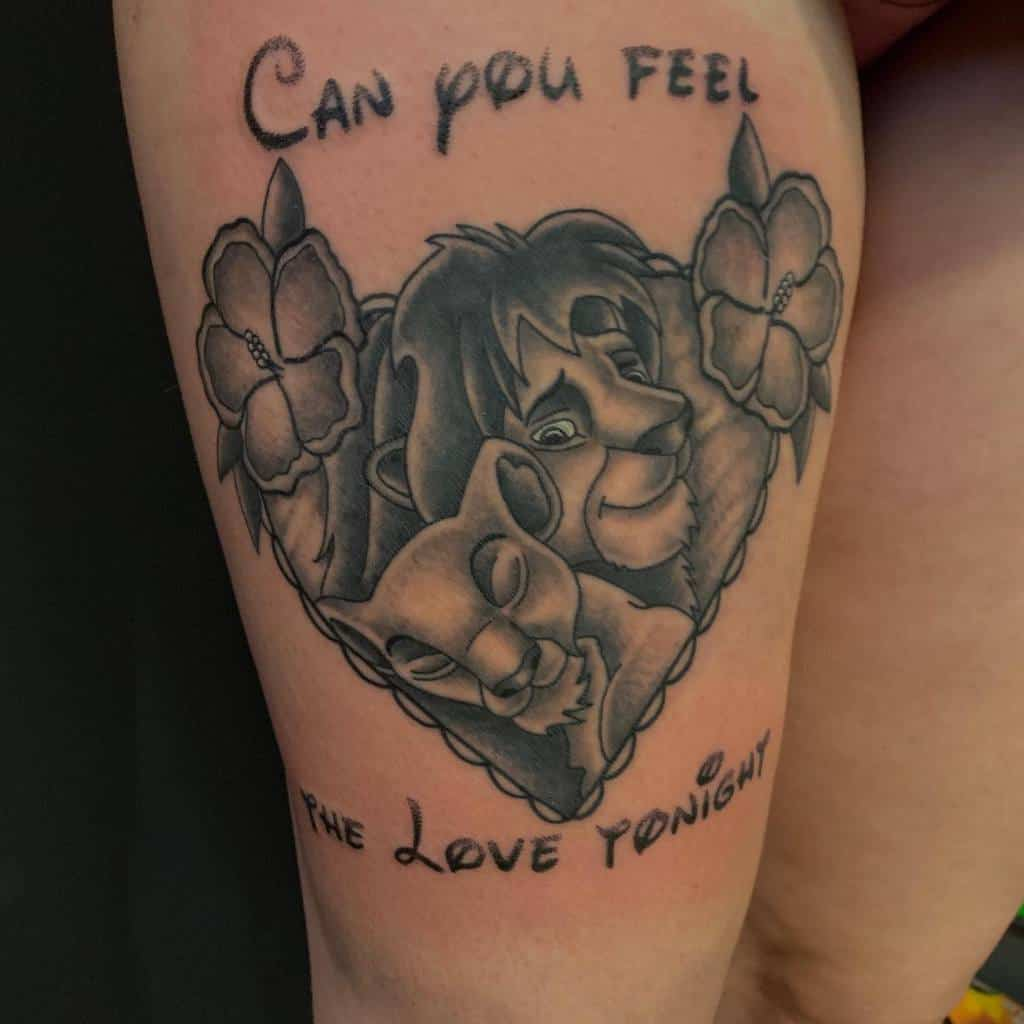 Simba And Nala Tattoo Tnt2 Ink