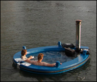 The Hot Tug-a Hot Tub Boat Is A Wood Fired Floating Jacuzzi