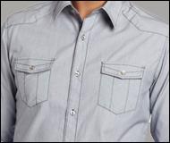 Men's 7 Diamonds Blue Dress Shirt