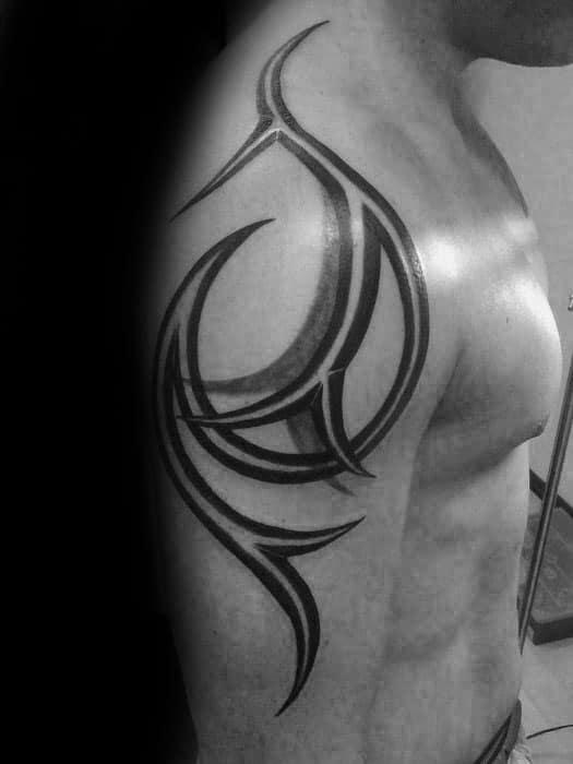 Simple 3d Tribal Guys Arm Tattoos
