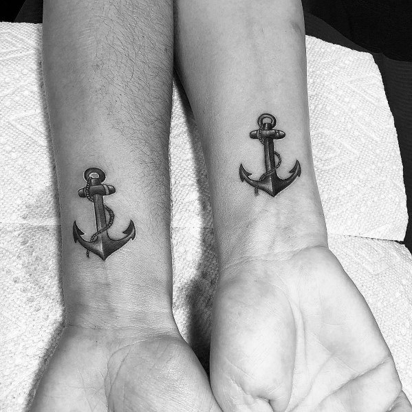 Simple Anchor Guys Tattoo Designs